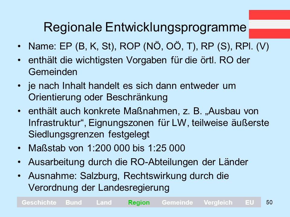 Regionale Entwicklungsprogramme