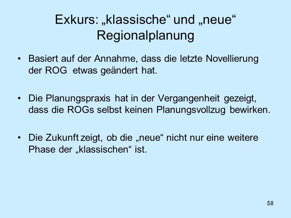 """Exkurs: """"klassische und """"neue Regionalplanung"""