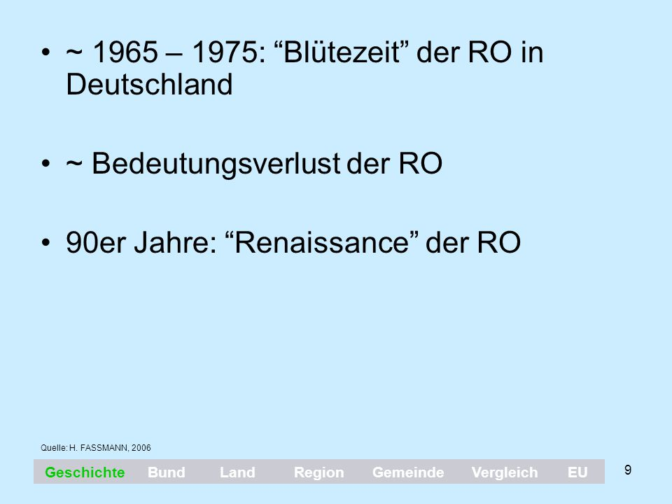 ~ 1965 – 1975: Blütezeit der RO in Deutschland