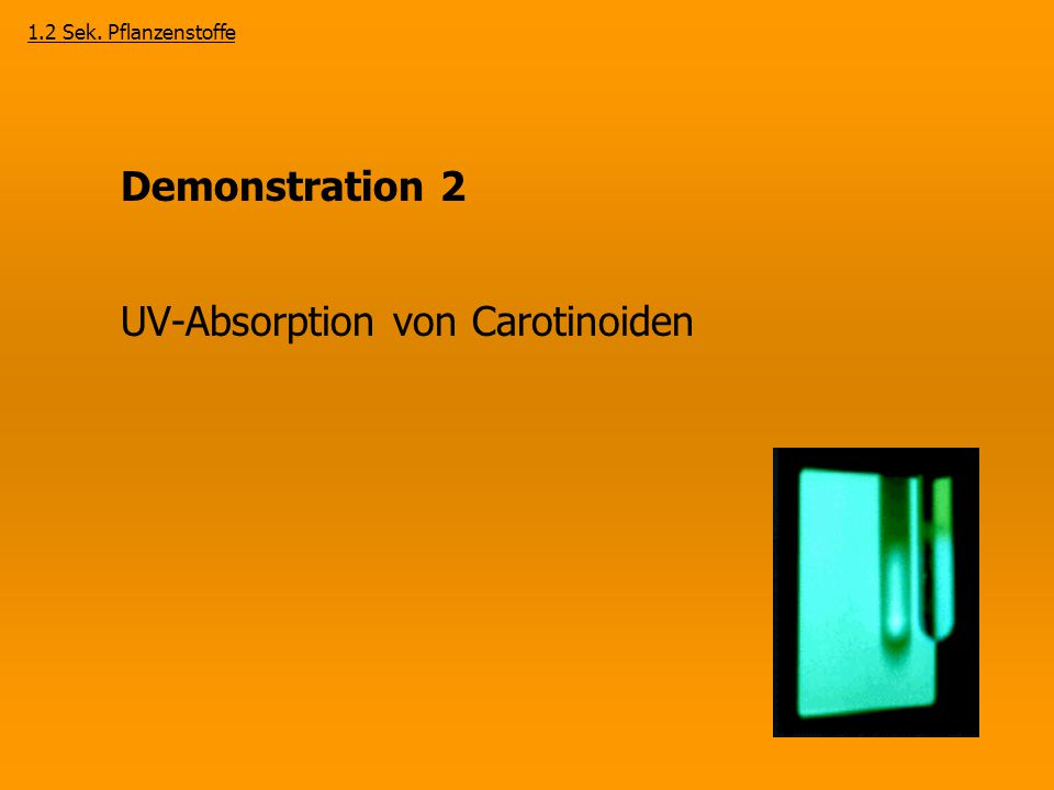 UV-Absorption von Carotinoiden