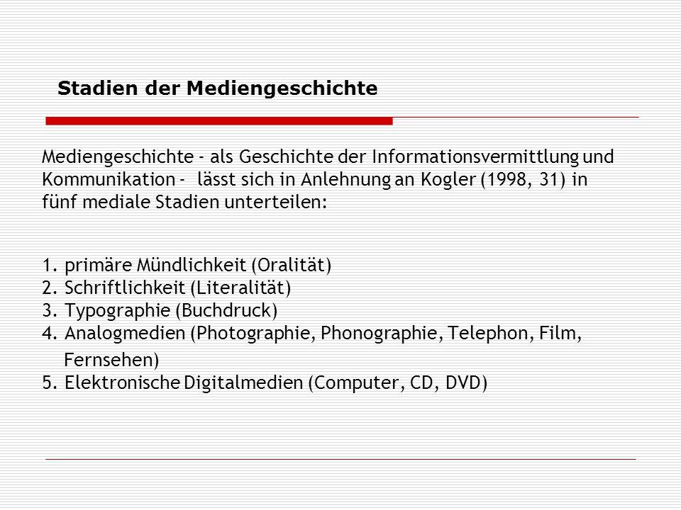 Stadien der Mediengeschichte