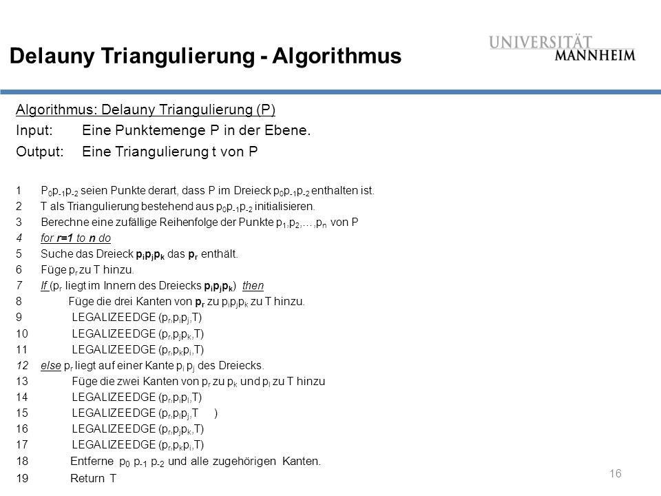 Delauny Triangulierung - Algorithmus