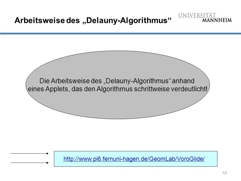 "Arbeitsweise des ""Delauny-Algorithmus"
