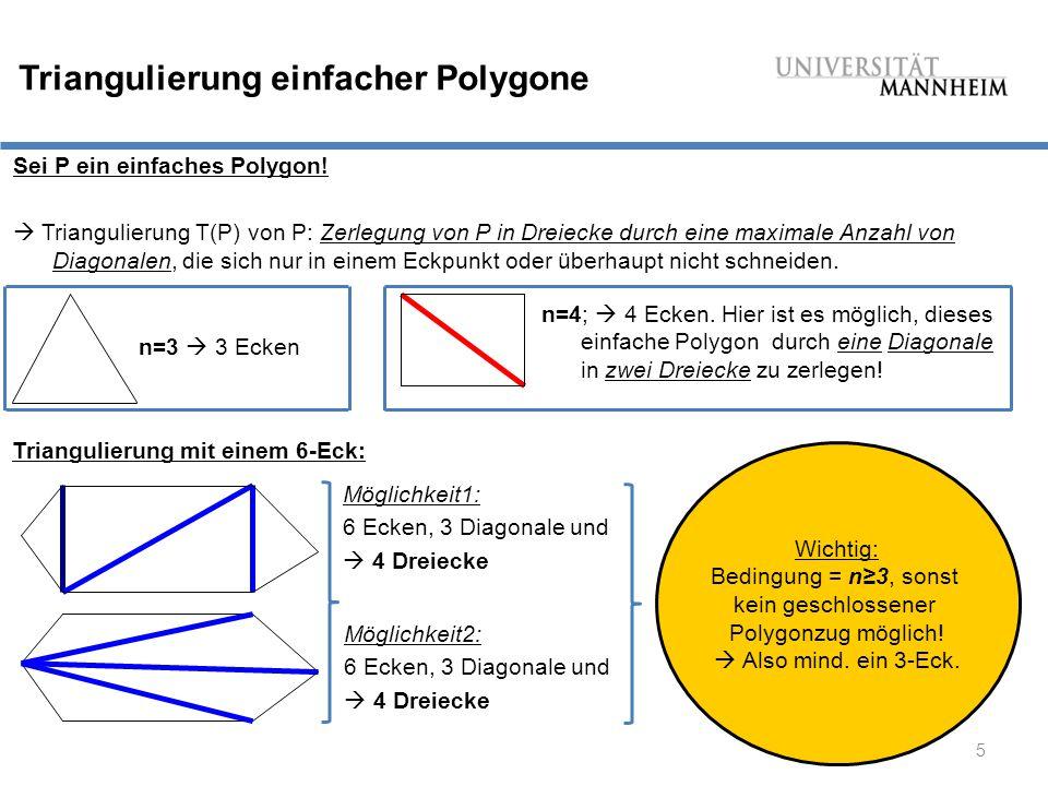 Triangulierung einfacher Polygone