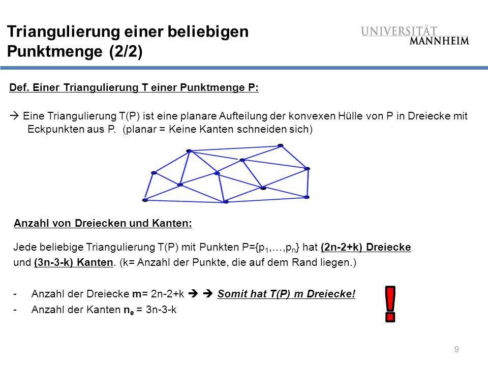 ! Triangulierung einer beliebigen Punktmenge (2/2)