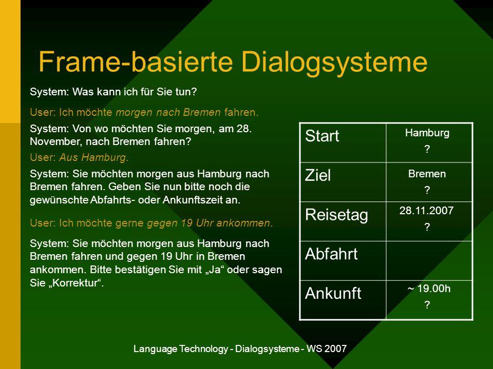 Frame-basierte Dialogsysteme