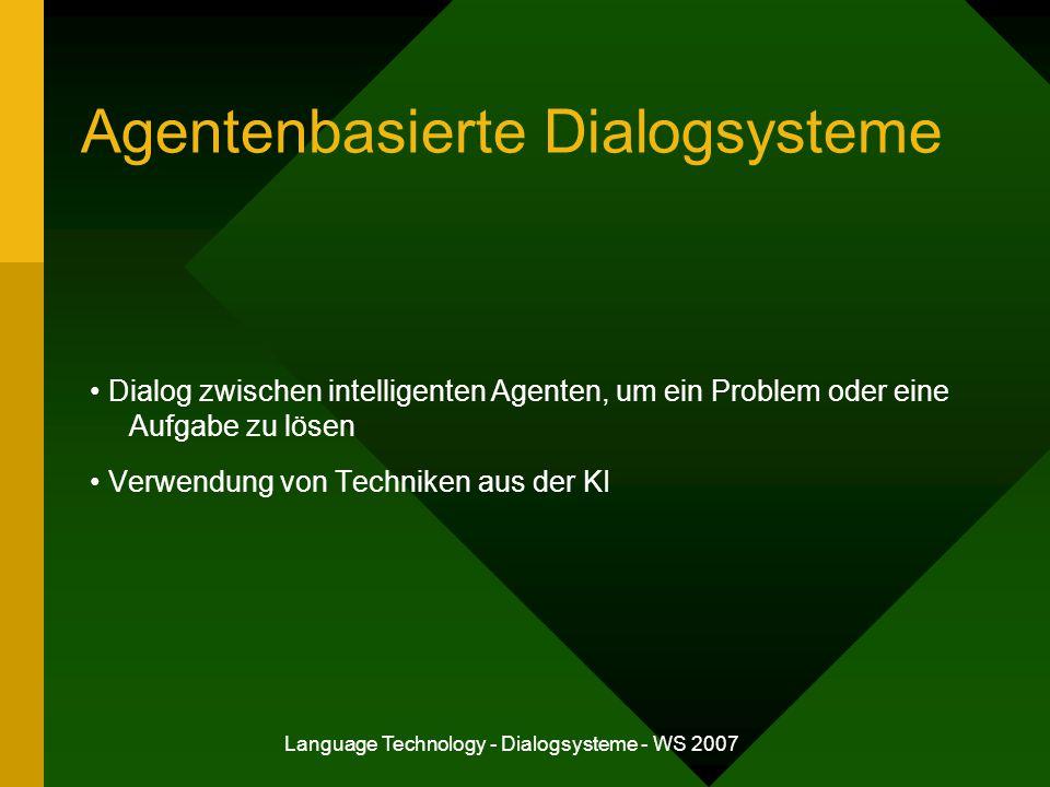 Agentenbasierte Dialogsysteme
