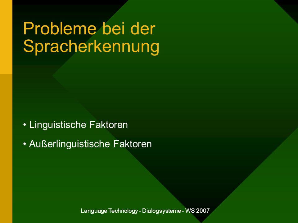 Probleme bei der Spracherkennung