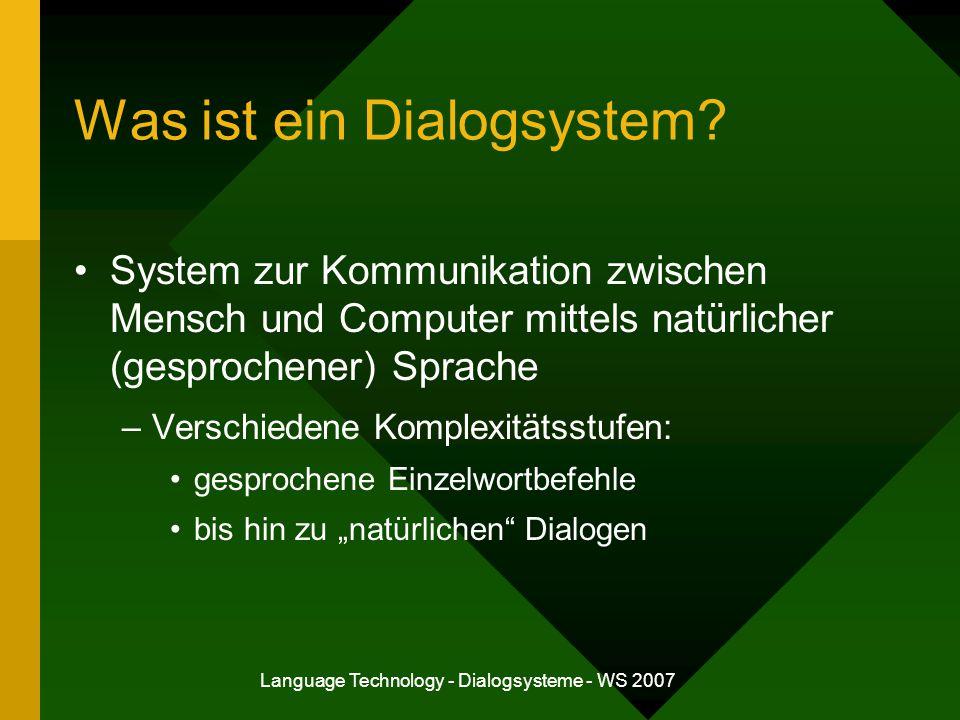 Was ist ein Dialogsystem