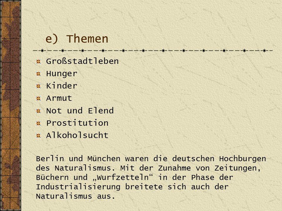 e) Themen Großstadtleben Hunger Kinder Armut Not und Elend