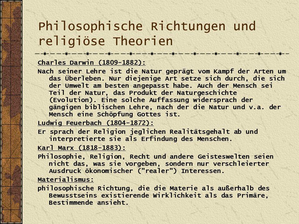 Philosophische Richtungen und religiöse Theorien