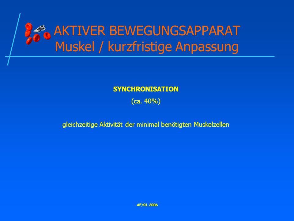 AKTIVER BEWEGUNGSAPPARAT Muskel / kurzfristige Anpassung