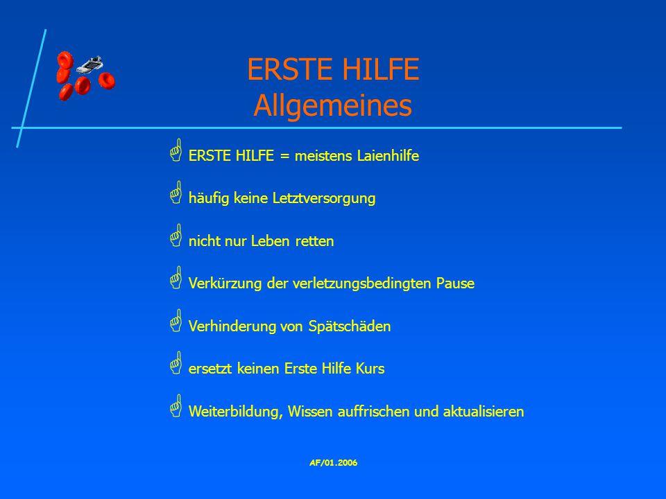 ERSTE HILFE Allgemeines