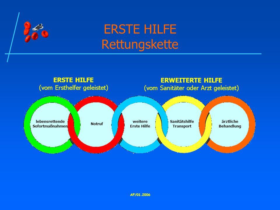 ERSTE HILFE Rettungskette