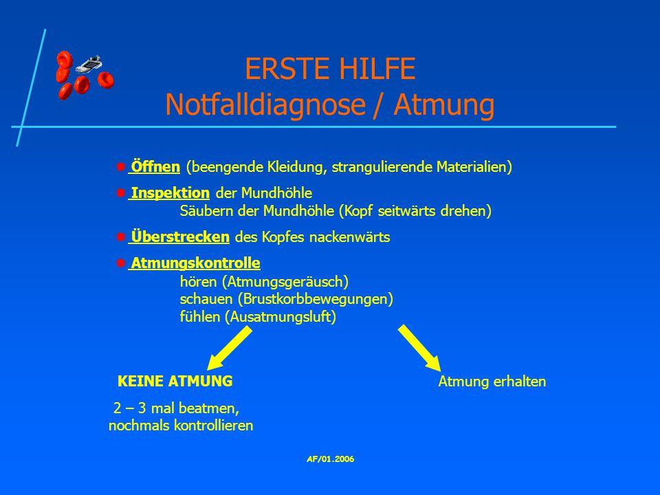 ERSTE HILFE Notfalldiagnose / Atmung