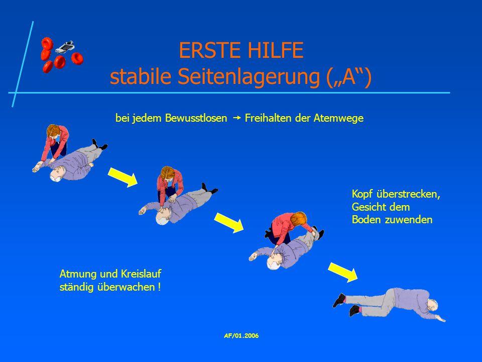 """ERSTE HILFE stabile Seitenlagerung (""""A )"""