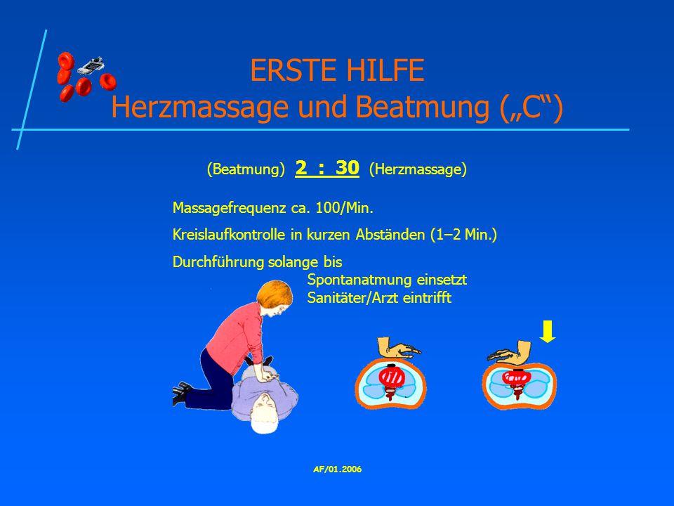 """ERSTE HILFE Herzmassage und Beatmung (""""C )"""