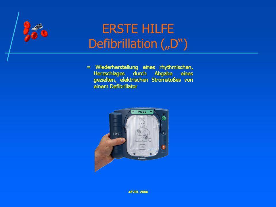 "ERSTE HILFE Defibrillation (""D )"