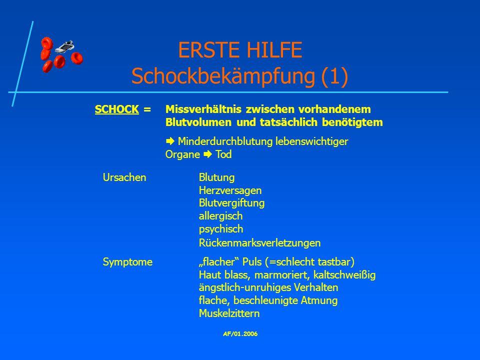 ERSTE HILFE Schockbekämpfung (1)