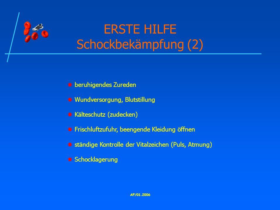 ERSTE HILFE Schockbekämpfung (2)