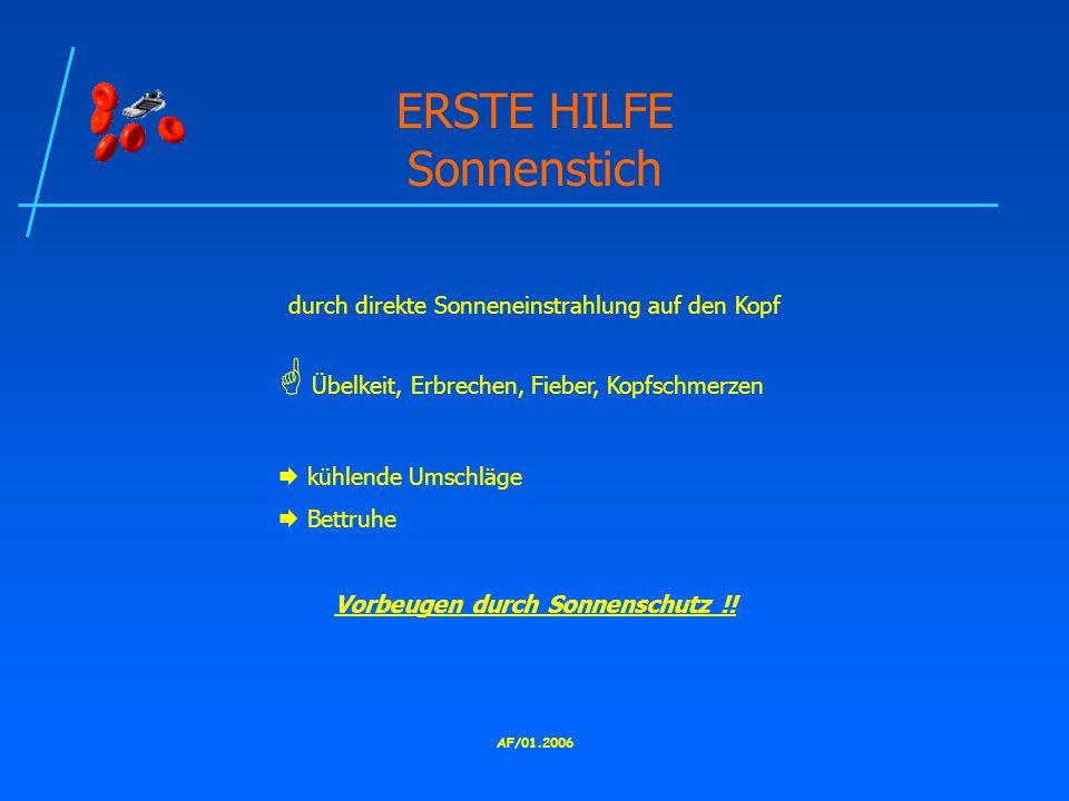 ERSTE HILFE Sonnenstich