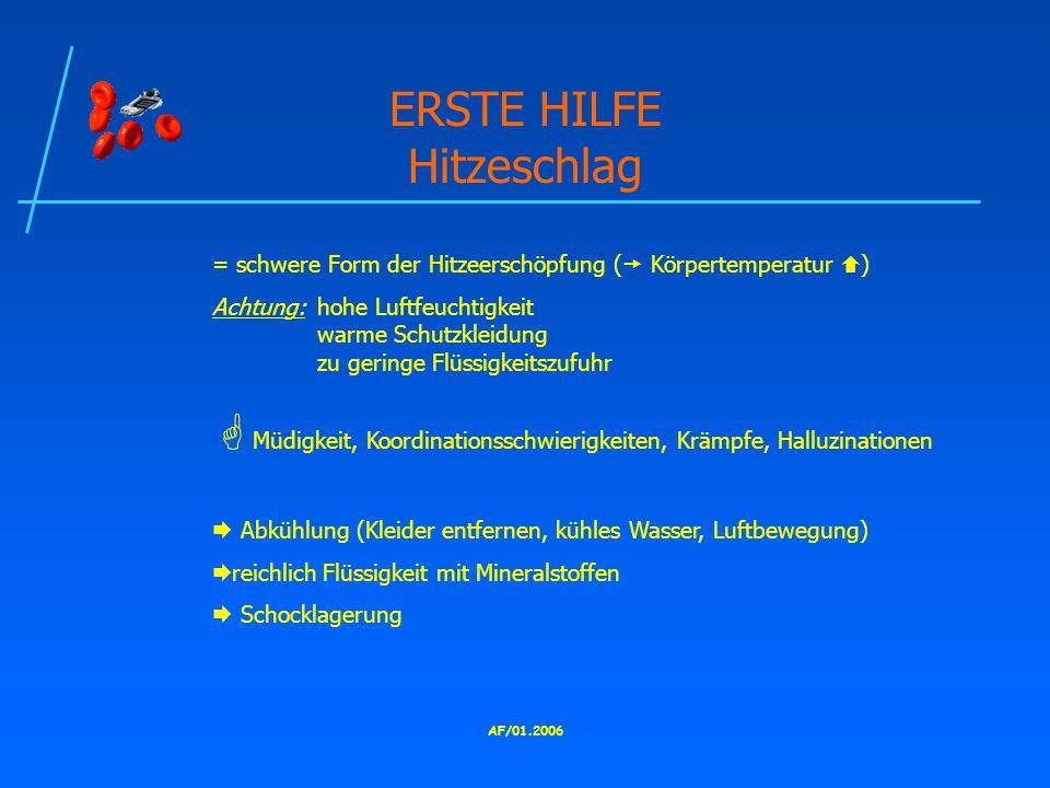 ERSTE HILFE Hitzeschlag