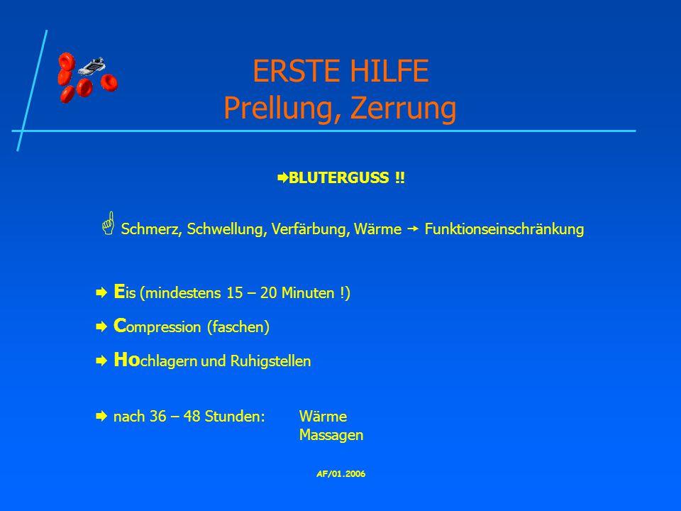 ERSTE HILFE Prellung, Zerrung