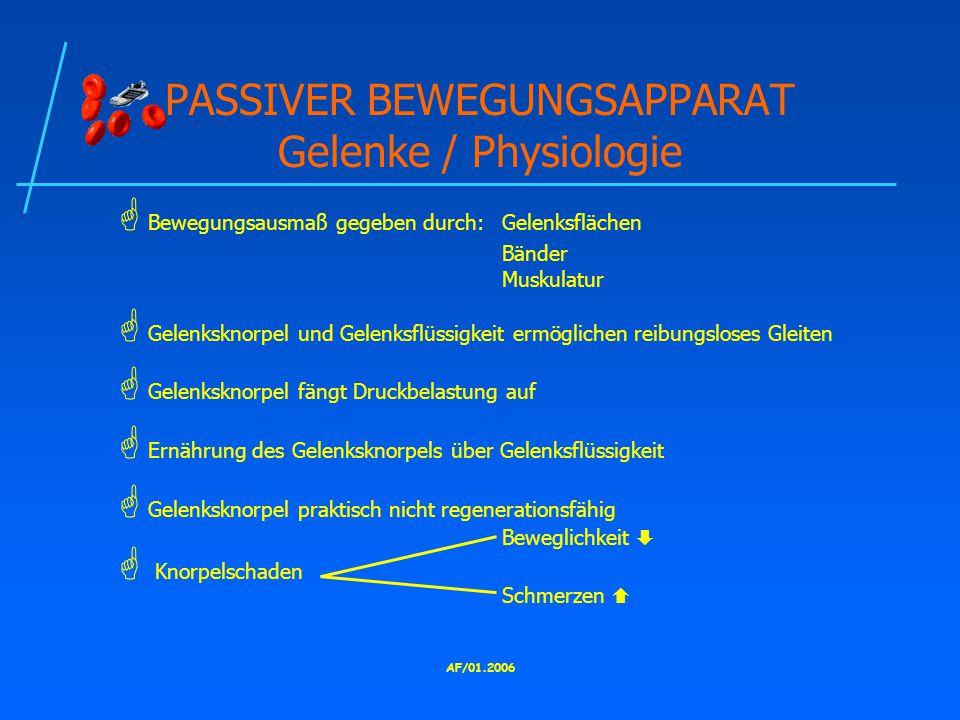 PASSIVER BEWEGUNGSAPPARAT Gelenke / Physiologie