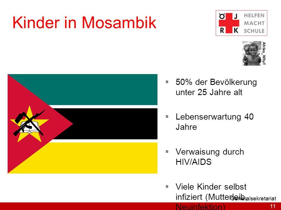 Kinder in Mosambik 50% der Bevölkerung unter 25 Jahre alt