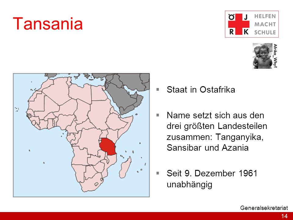 Tansania Staat in Ostafrika