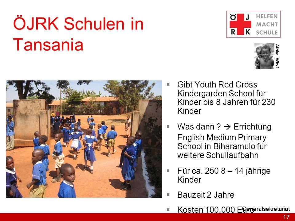 ÖJRK Schulen in Tansania