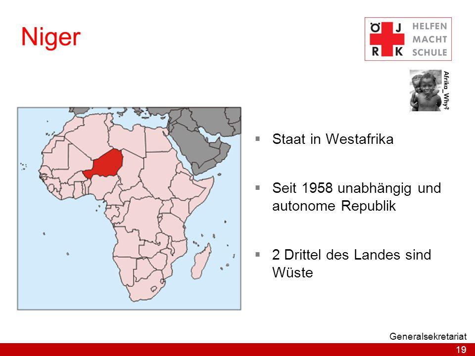 Niger Staat in Westafrika Seit 1958 unabhängig und autonome Republik