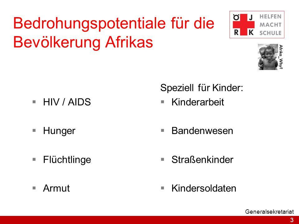 Bedrohungspotentiale für die Bevölkerung Afrikas