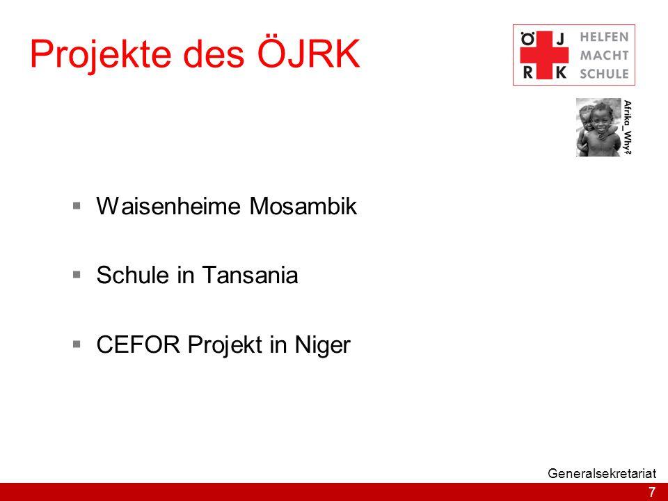 Projekte des ÖJRK Waisenheime Mosambik Schule in Tansania