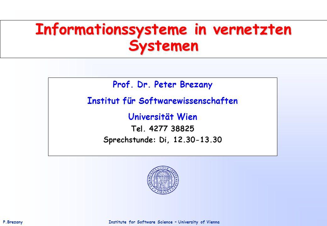 Informationssysteme in vernetzten Systemen