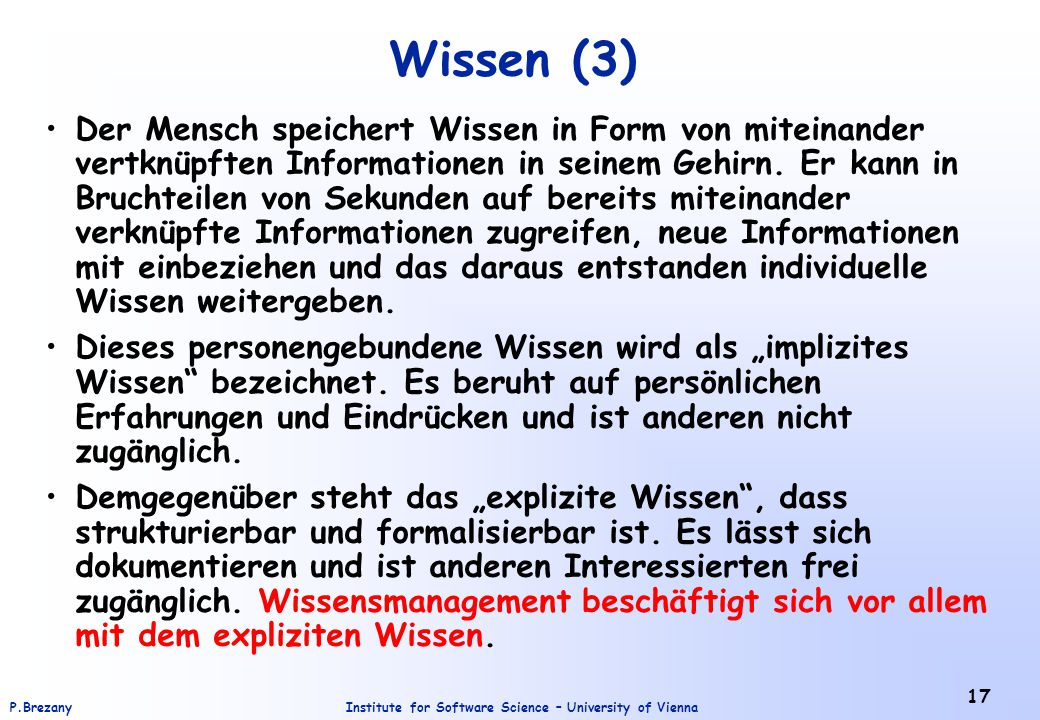Wissen (3)