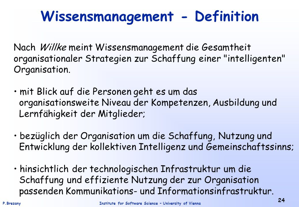 Wissensmanagement - Definition