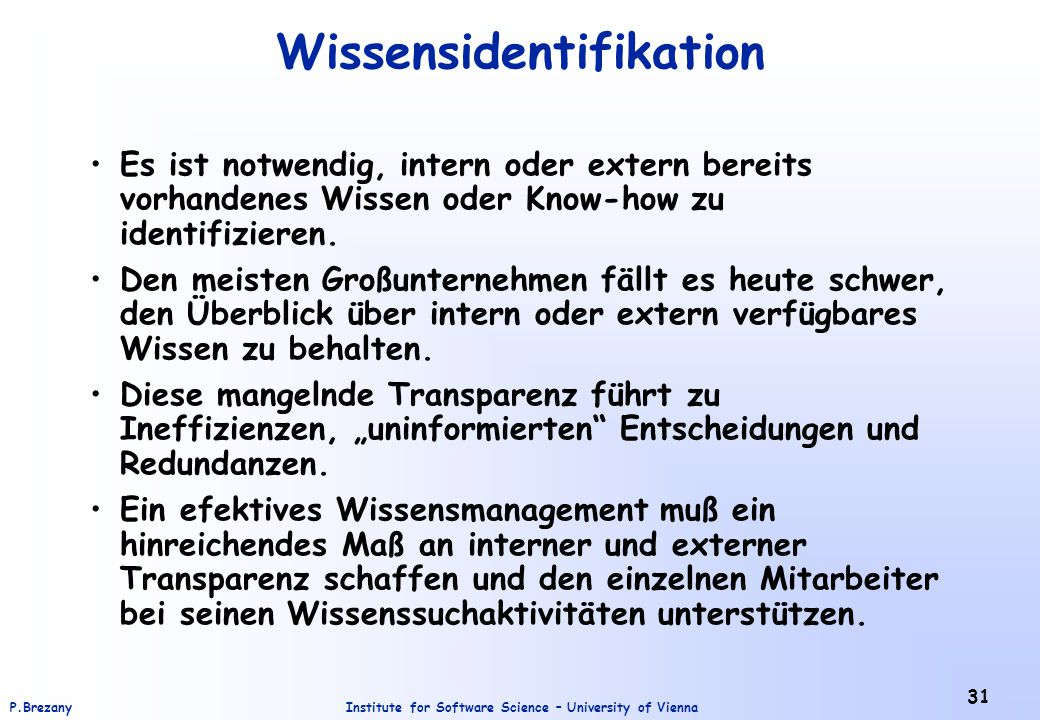 Wissensidentifikation