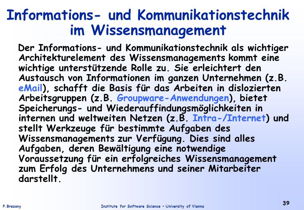 Informations- und Kommunikationstechnik im Wissensmanagement