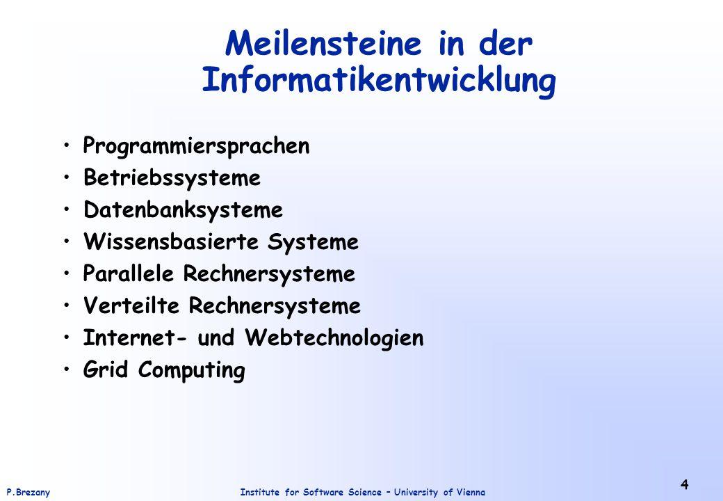 Meilensteine in der Informatikentwicklung