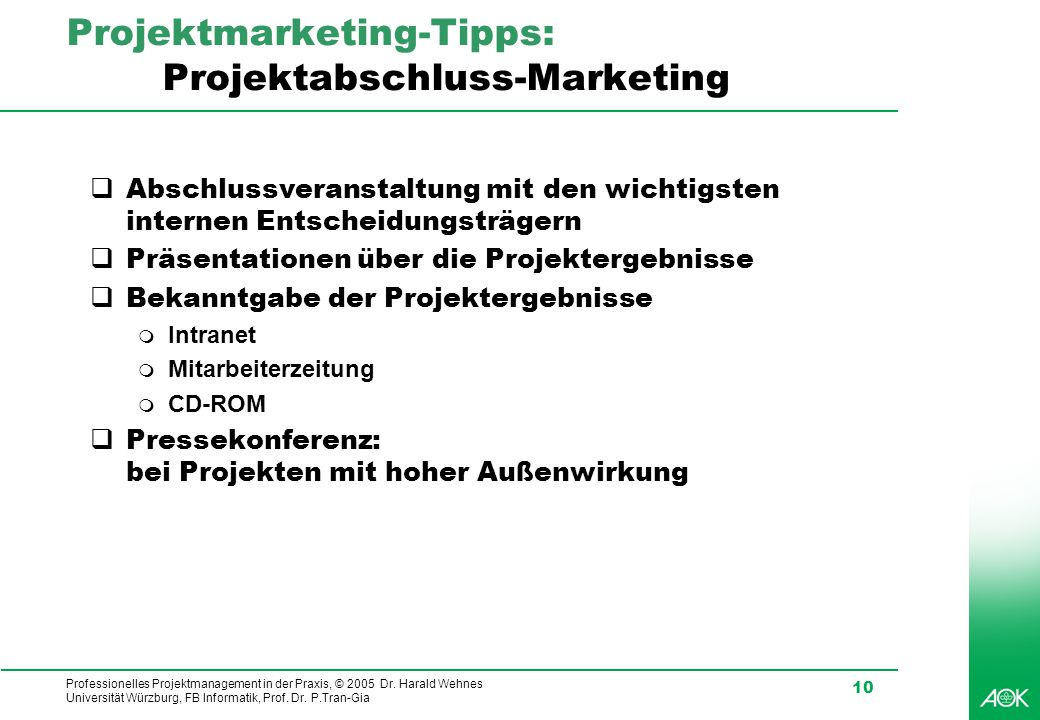 Projektmarketing-Tipps: Projektabschluss-Marketing
