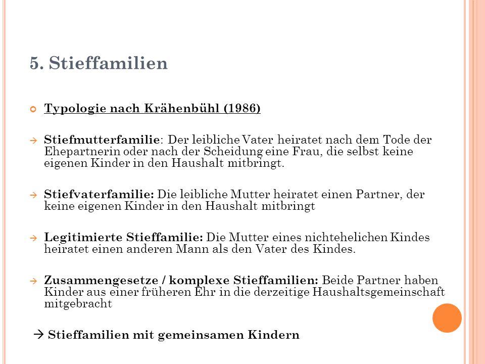 5. Stieffamilien Typologie nach Krähenbühl (1986)