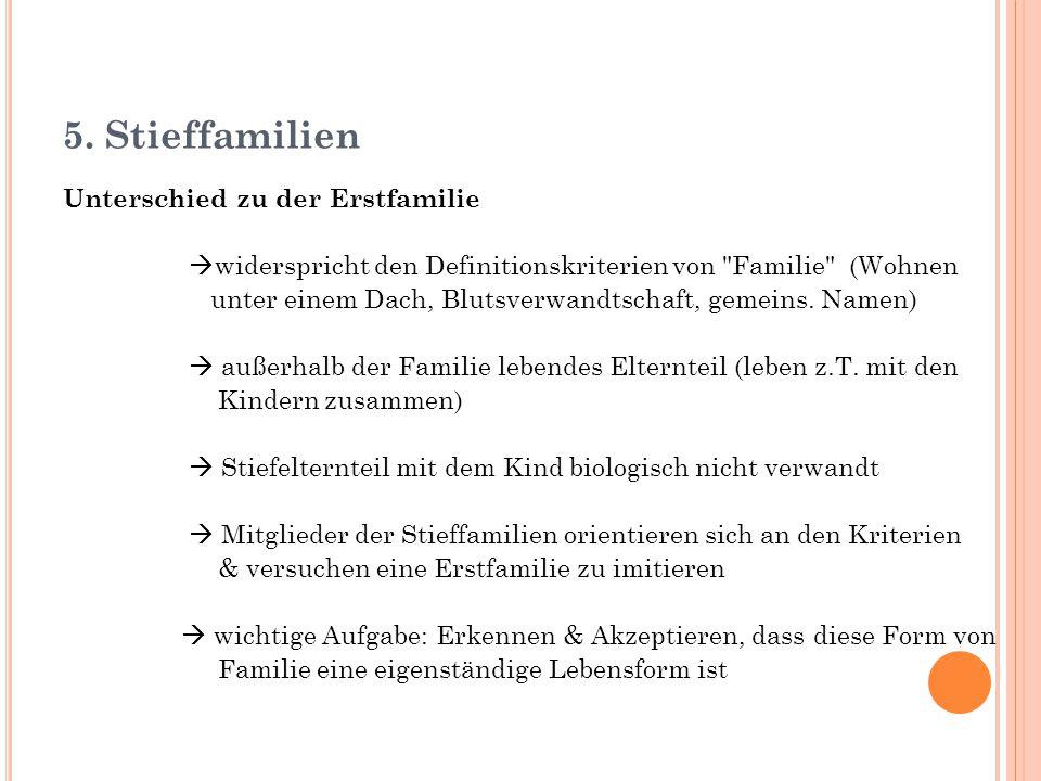 5. Stieffamilien Unterschied zu der Erstfamilie