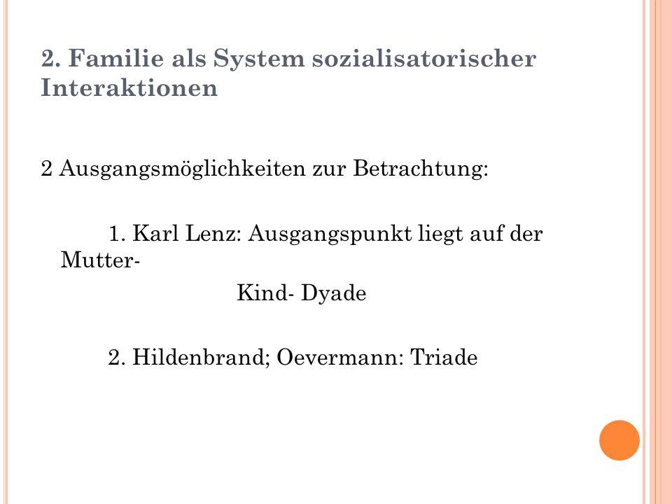 2. Familie als System sozialisatorischer Interaktionen