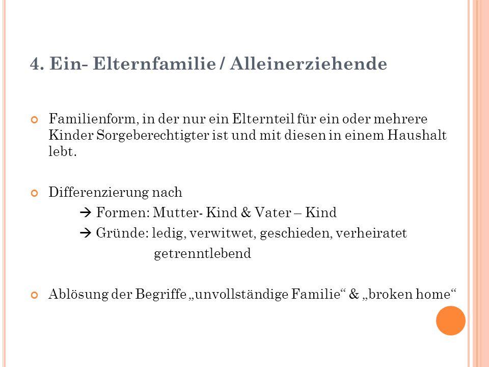 4. Ein- Elternfamilie / Alleinerziehende