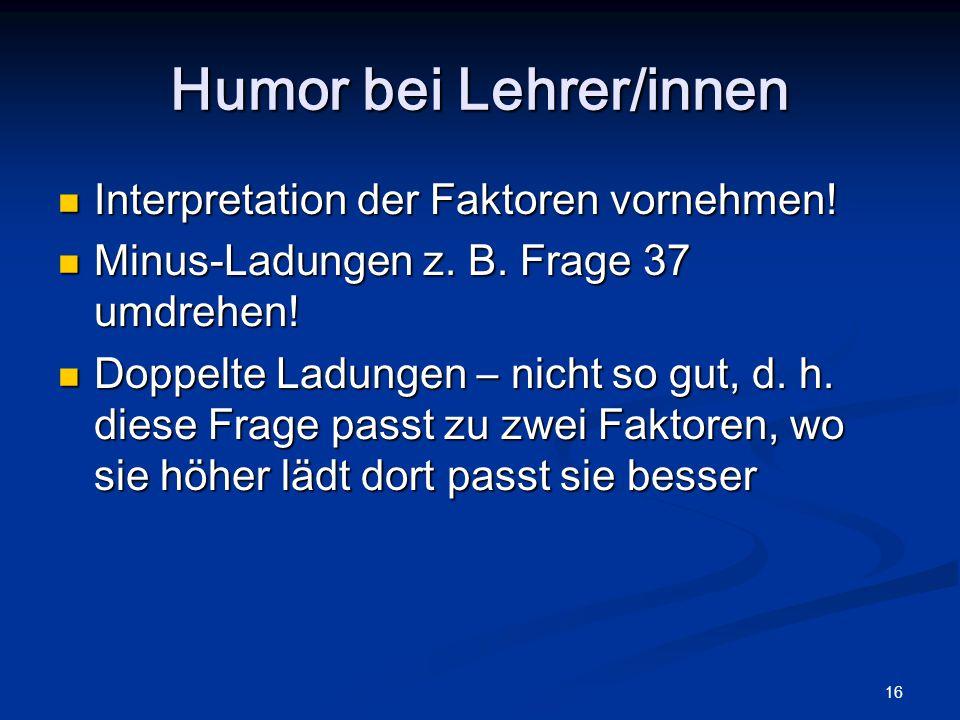 Humor bei Lehrer/innen