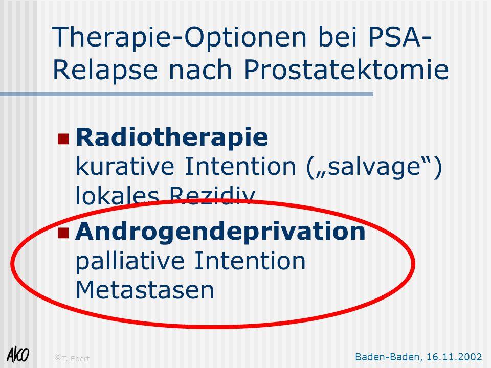 Therapie-Optionen bei PSA-Relapse nach Prostatektomie