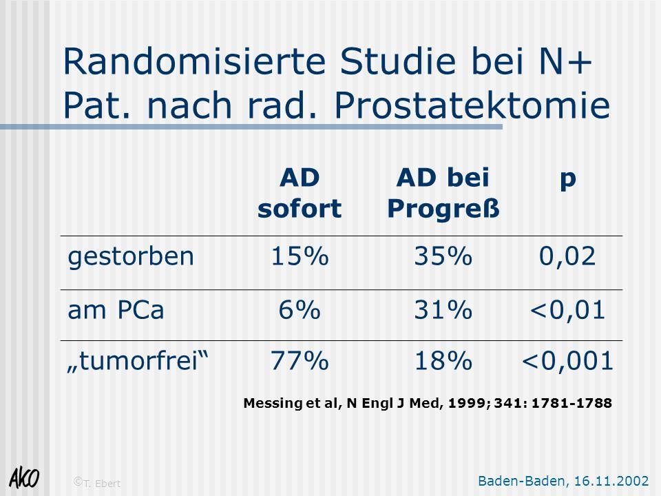 Randomisierte Studie bei N+ Pat. nach rad. Prostatektomie