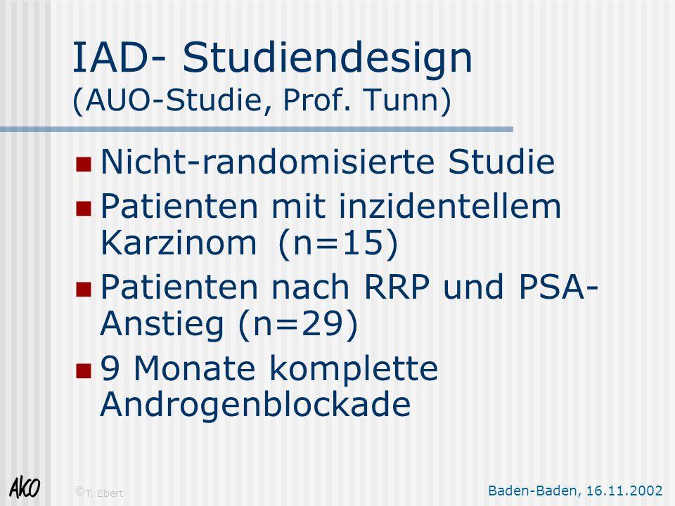 IAD- Studiendesign (AUO-Studie, Prof. Tunn)