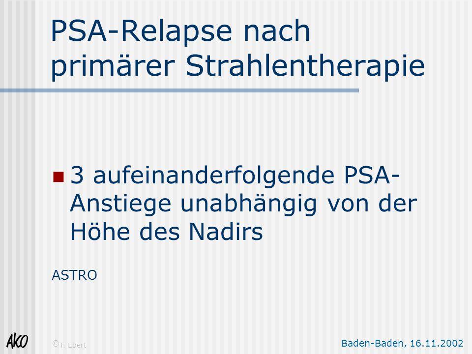 PSA-Relapse nach primärer Strahlentherapie